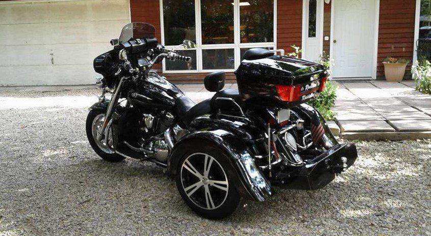 2013 Yamaha Roadstar 1700 Custom Kit black 15 inch machined face flared fenders xcite 5