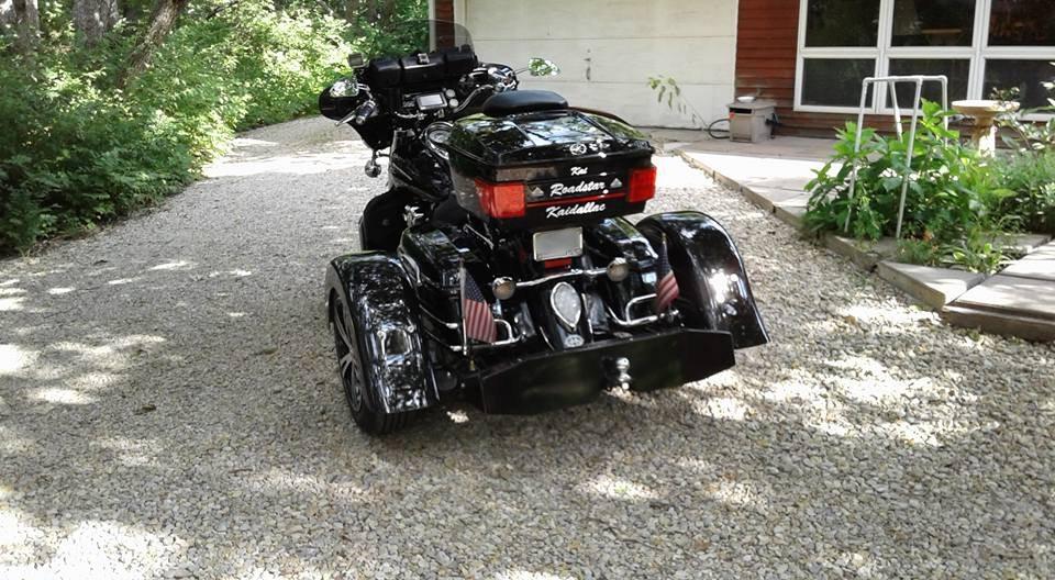 2013 Yamaha Roadstar 1700 Custom Kit black 15 inch machined face flared fenders xcite 6