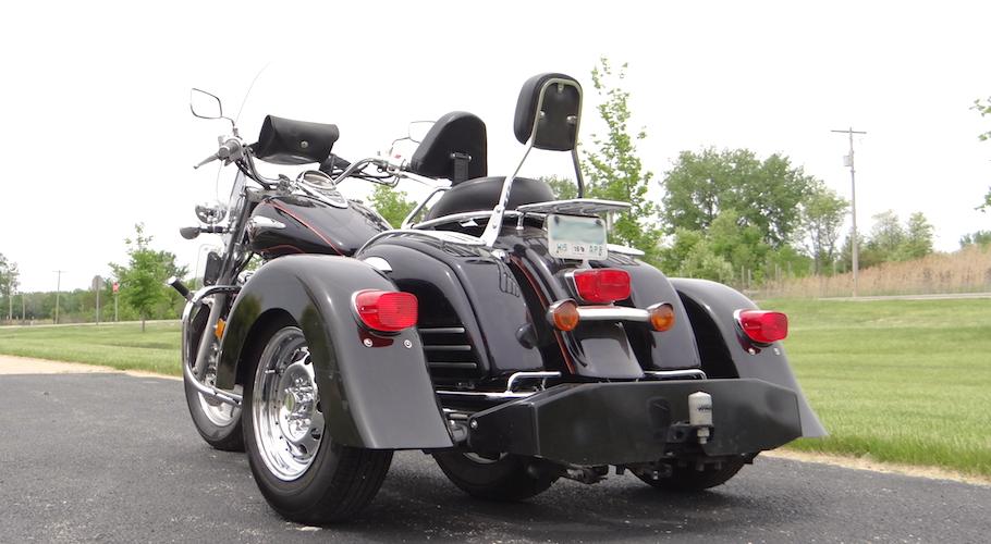 Kawasaki Vulcan Nomad 1500 - Voyager Custom Motorcycle Trike Kit