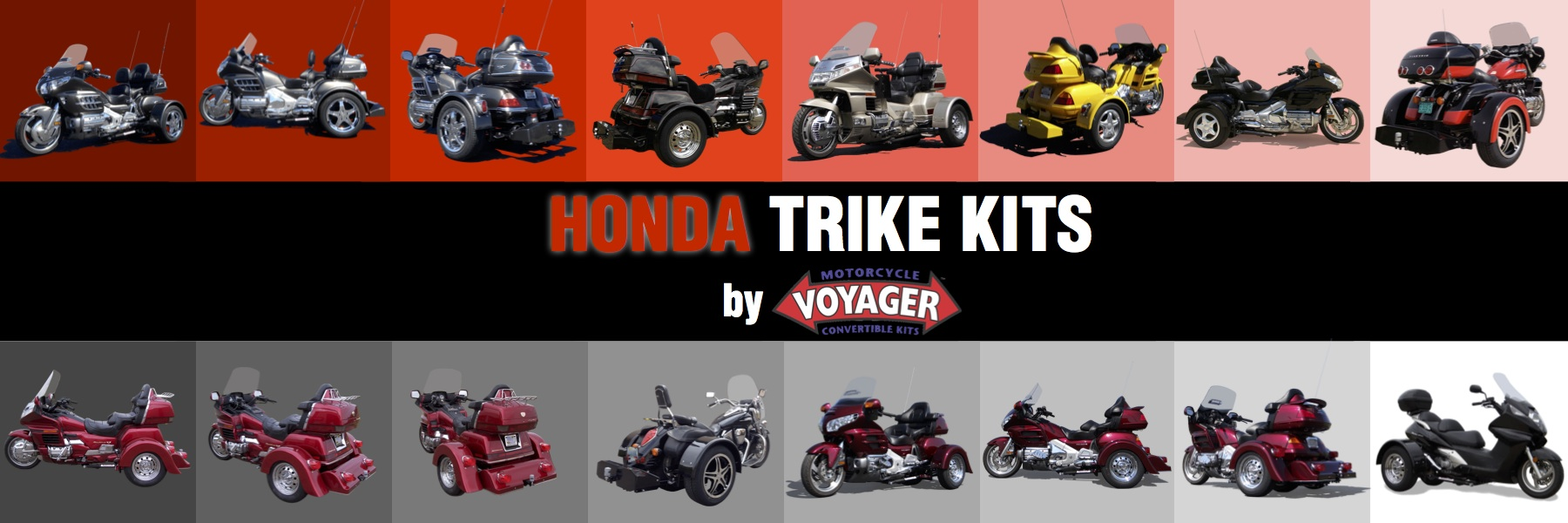 Voyager Trike Conversion Kits for Honda Motorcycles