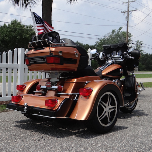Harley-Davidson Ultra Classic PTM Copper Black 15 inch Kool Mach Face Flared - Myrtle Beach 2015 - Keith Sefton 4 copy