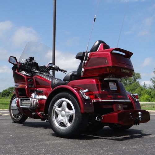 Honda GL 1500 PTM Red Maroon Standard 14 inch Beehive Lights - Hale Guyer 6 copy