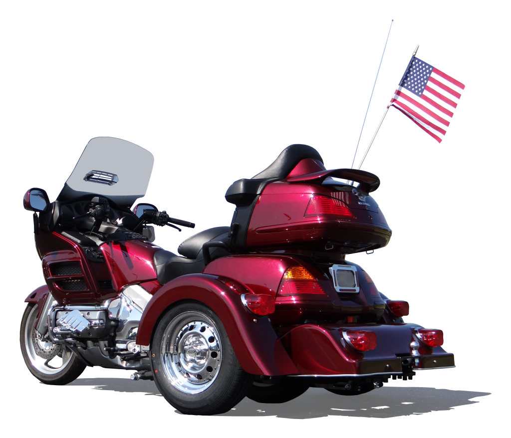 Honda GL1800 PTM Red Classic 13 in (USA flag) 3