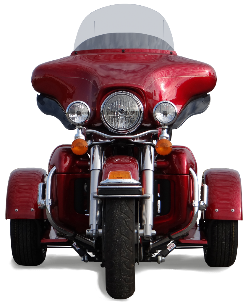 H-D Dresser PTM Red Front View with Shadow